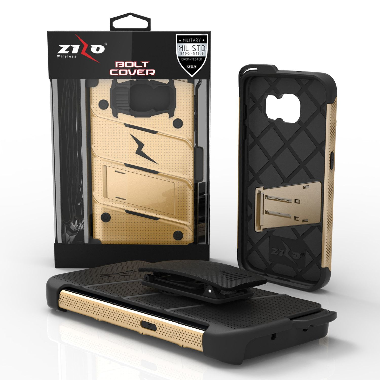 Zizo BOLT Samsung Galaxy S7 Edge Case - Gold/Black   Galaxy s7 edge