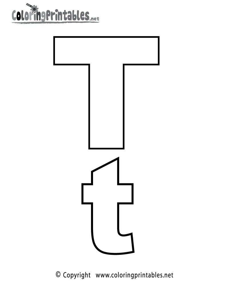 Letter T Alphabet Coloring Pages 3 Printable Versions Letter A