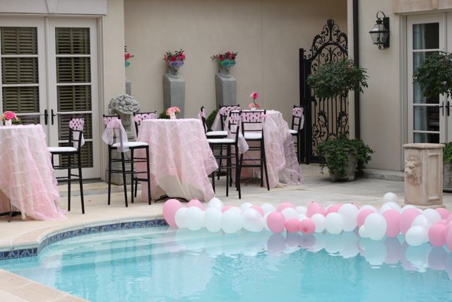 Pool Wedding Decoration Ideas: LOVE THIS! FOR AN ENGAGEMENT PARTY MAYBE?! NEED A POOL