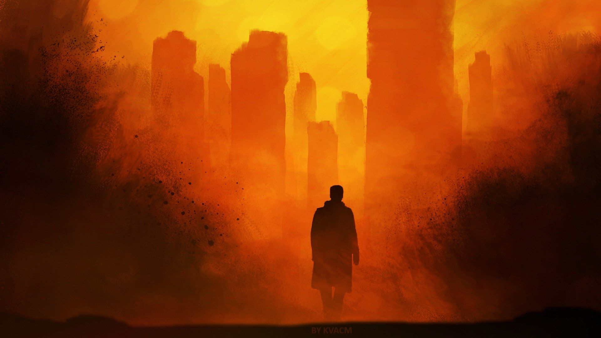 1920x1080 Blade Runner 2049 Hd Background Blade Runner Wallpaper Blade Runner City Artwork