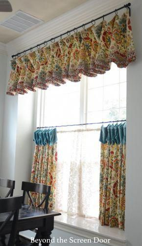 Multi Color String Curtain Fringe Panel Room Divider: Kitchen Cafe Curtain And Valance