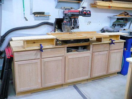 Storage Bench & Stand for Radial Arm Saw | Radial Arm Saw ...