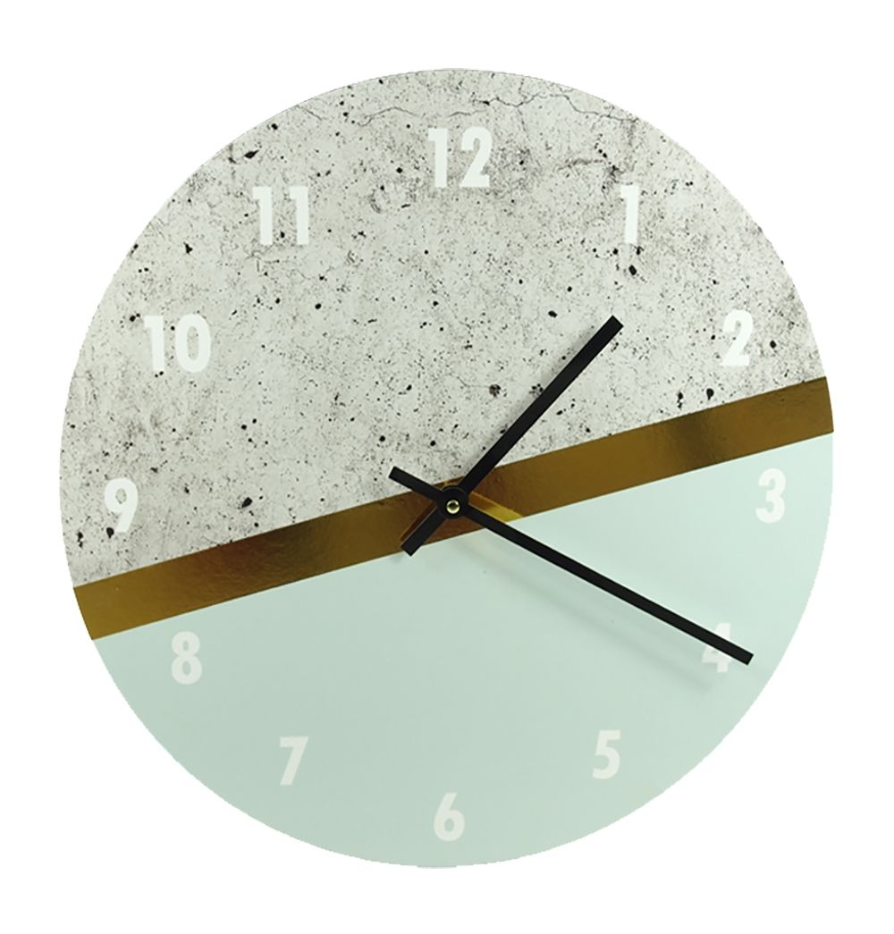 Neo Concrete Look Clock Clock George Nelson Wall Clock Kid Friendly Living Room