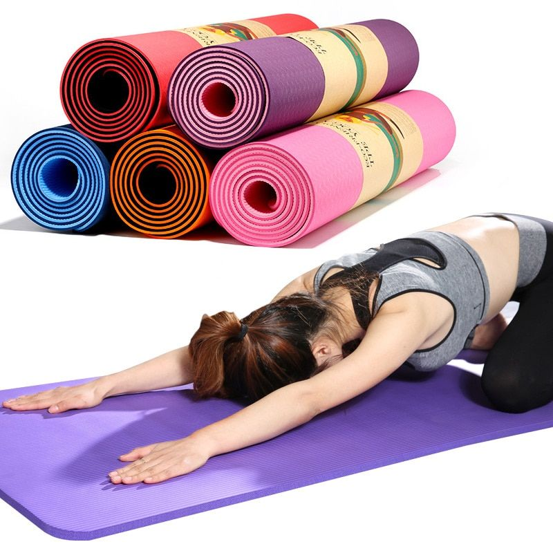 Extra Thick Non-slip Yoga Mat Pad Exercise Fitness Pilates w// Strap HOT SALES US