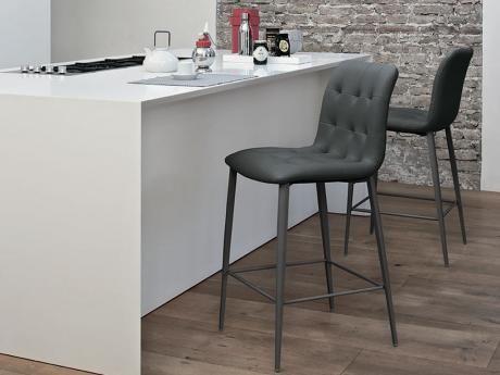 Bontempi kuga bar stool qt modern italian furniture