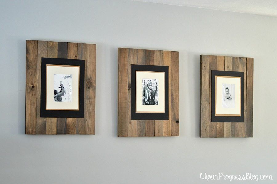 DIY Picture Frame: Get the Rustic Weathered Pallet Look | Pallet ...