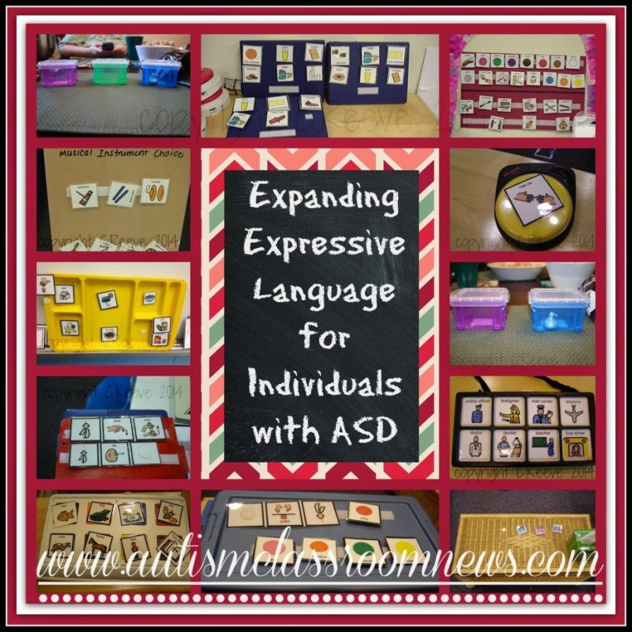 Expanding Expressive Language for Individuals with ASD is part of Expressive language, Speech therapy autism, Expressive language activities, Autism classroom, Speech therapy activities, Expressive language disorder - I've been talking about receptive vocabulary for a bit, so as promised, I want to talk about expressive language  I thought I would start off with some of the ways that we can help students