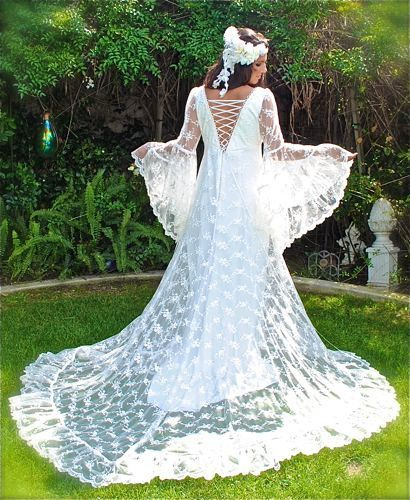 52f7ec6274 Ophelia Gown Lace Medieval Wedding Gown Custom by RomanticThreads ...