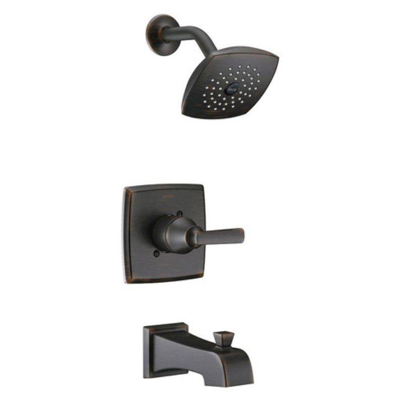 Delta T14464 Ashlyn Single Handle Pressure Balance Tub and Shower Faucet Trim Kit - 685379