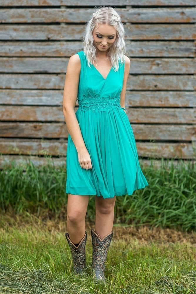 Country Turquoise Dresses