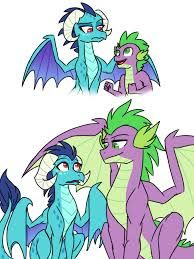 you know i think spike and ember are the same age just ember grows
