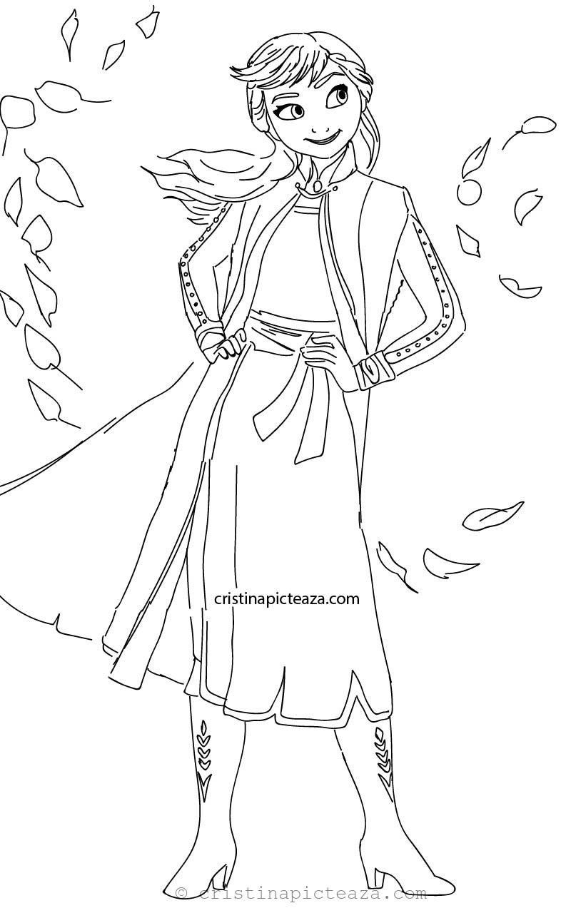 Elsa And Anna Coloring Pages Anna From Frozen 2 Coloring Pages Cristina Picteaza In 2020 Elsa Coloring Pages Princess Coloring Pages Disney Princess Coloring Pages