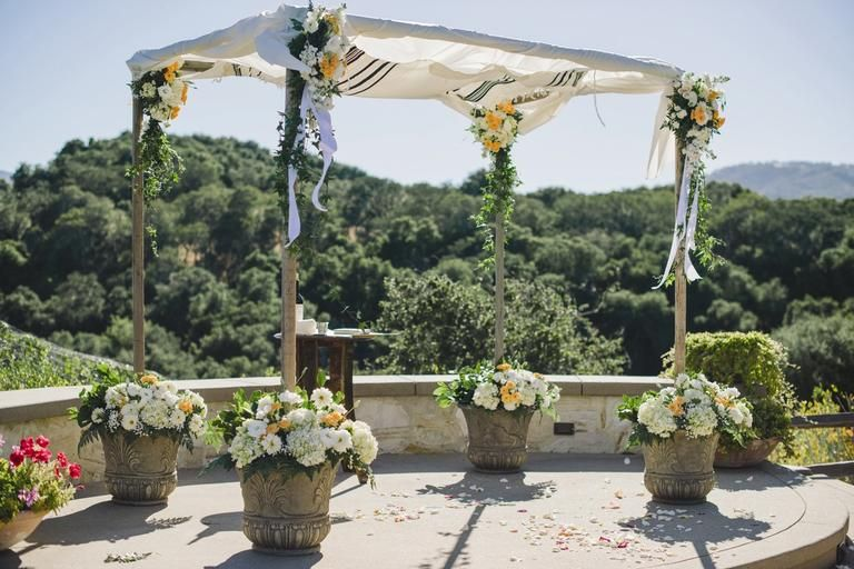23 wedding chuppah ideas we love chuppah weddings and wedding looking for inspiration for your jewish wedding ceremony check out these 23 creative wedding chuppah ideas from real weddings junglespirit Gallery