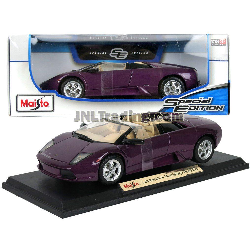 Maisto Special Edition Series 1 18 Scale Die Cast Car Purple Sports Convertible Coupe Lamborghini Murcielago Roadster W Display Base Dim 9 X 4 X 2 1 2 Sports Cars Luxury Toy Car Lamborghini