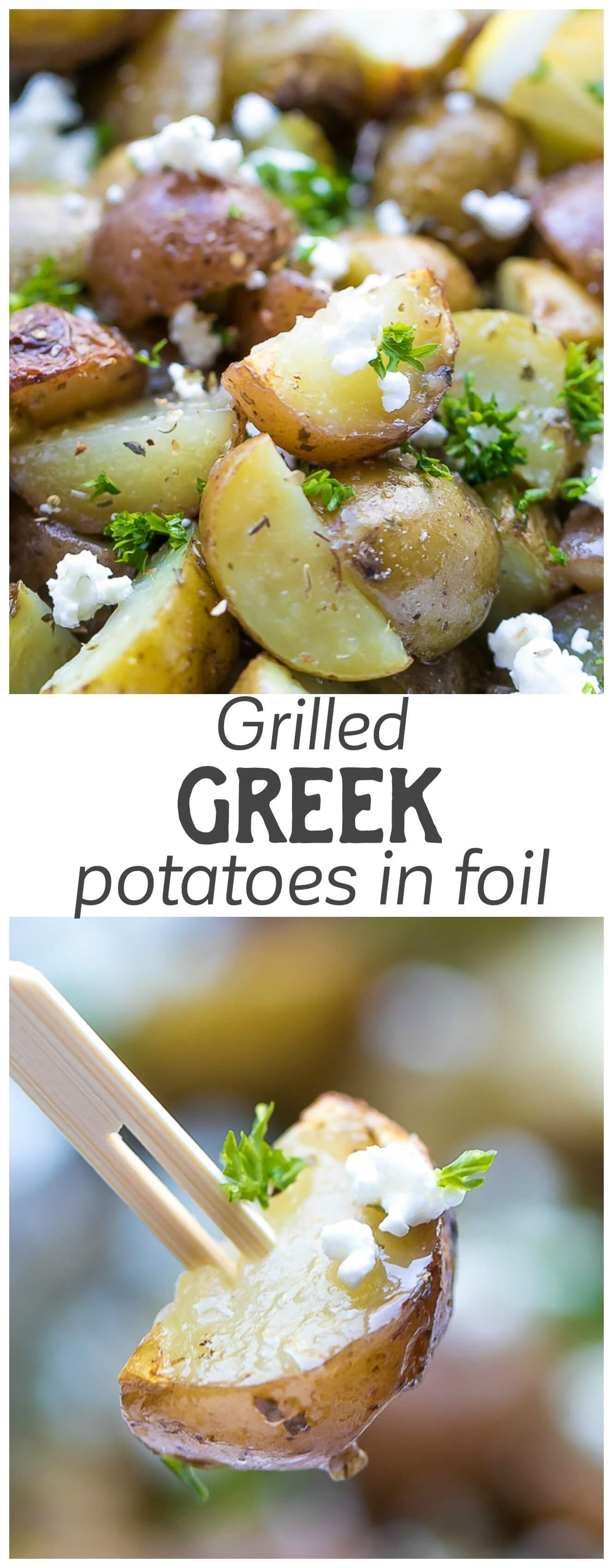 Grilled greek potatoes in foil recipe greek potatoes feta and grilled greek potatoes in foil greek food recipeseasy forumfinder Gallery