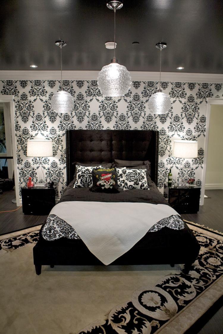 Skull Wallpaper For Bedroom Black And White Walls White Trim Black Ceilingsomething So