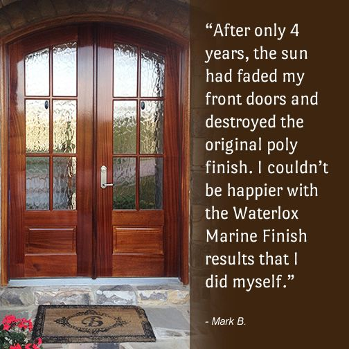 Gorgeous doors finished with our Waterlox Marine Finishing System! & Gorgeous doors finished with our Waterlox Marine Finishing System ...