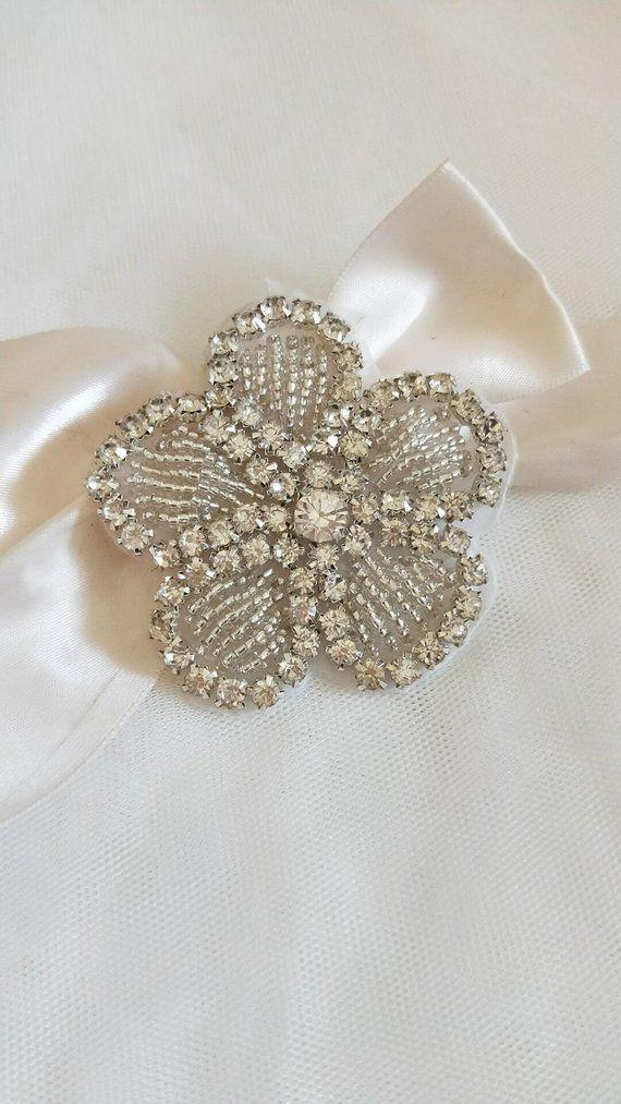 Flower Rhinestone Applique Crystal Flower Trim Rhinestone Beaded Applique  Bridal Accessories Wedding bc119d038bfe