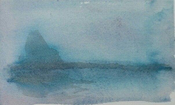 "7.5x4.5"" watercolor, paper"