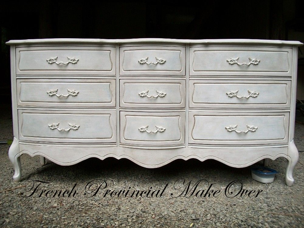French Dressers For Finished Dresser My Provincial Makeover The