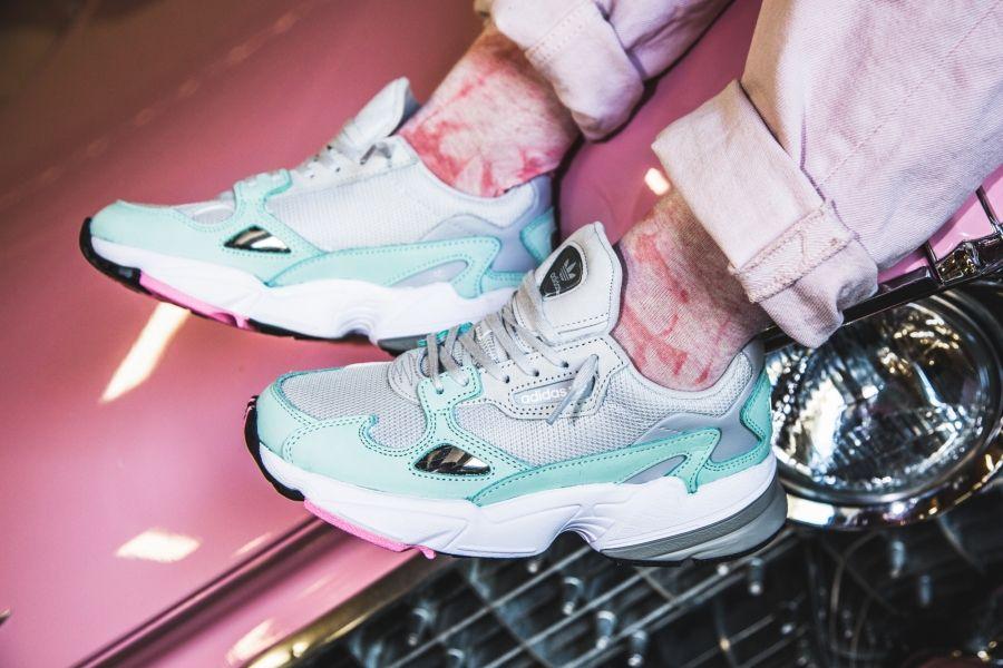 best sneakers e745b 4e3a2 adidas - Falcon W (grey   mint) - B28127