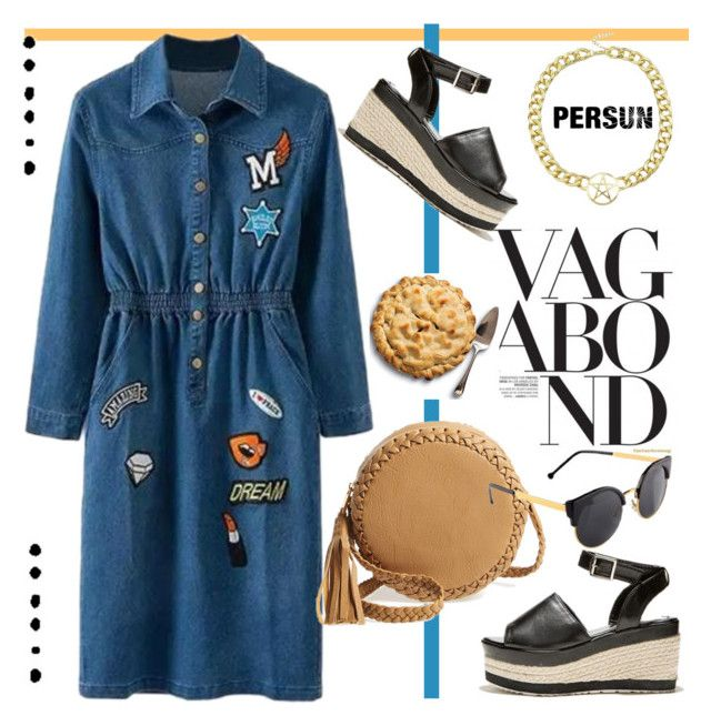 """denim dress"" by paculi ❤ liked on Polyvore featuring Big Buddha"