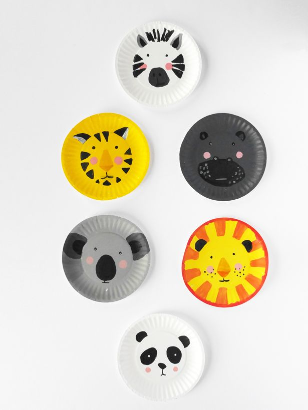 DIY ANIMAL PAPER PLATE FACES & DIY ANIMAL PAPER PLATE FACES | DIY - Parties - Animals | Pinterest ...