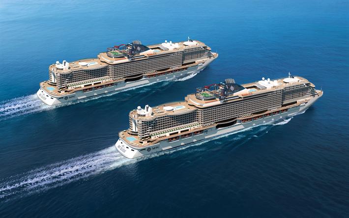 Download wallpapers MSC Seaview, MSC Seaside, 4k, cruise ...