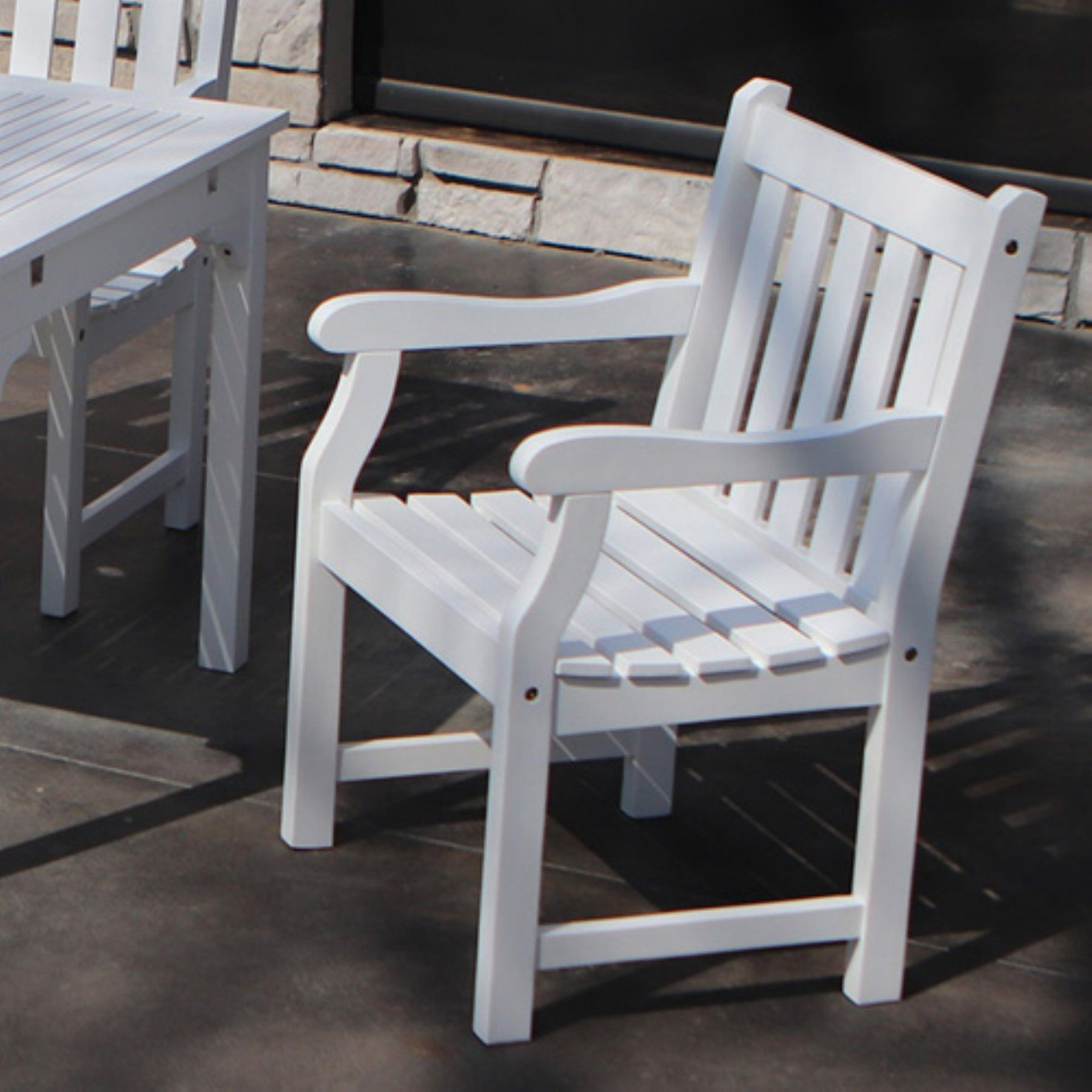 Decor Therapy Henley Outdoor Dining Arm Chair  Fr8576