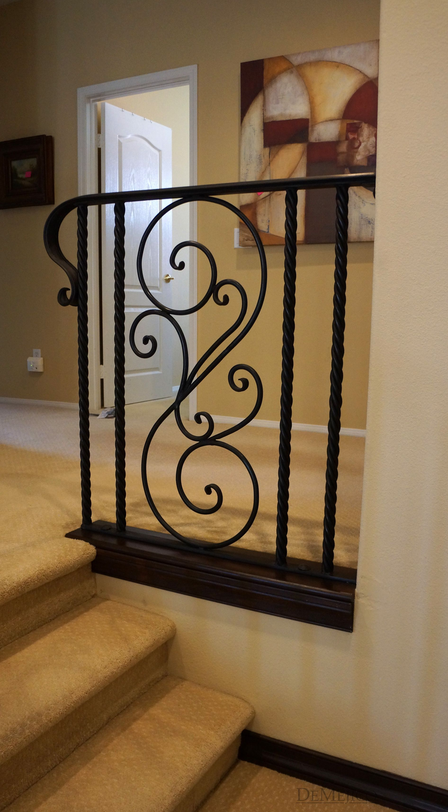 Completely Custom This Wrought Iron Railing Accent Piece Is