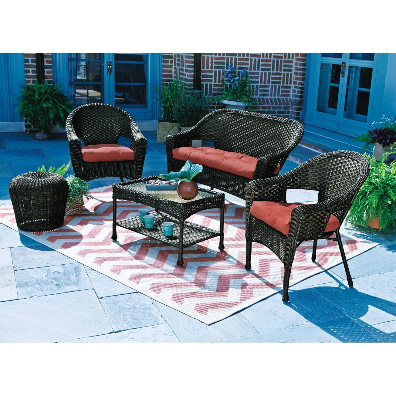 Living Accents Verona Stackable Wicker Chair - Deep ... on Living Accents Patio id=84851