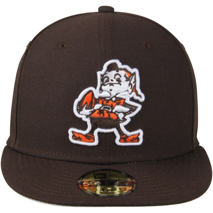 38f9598b Cleveland Browns New Era Brownie Omaha Throwback 59FIFTY Fitted Hat ...