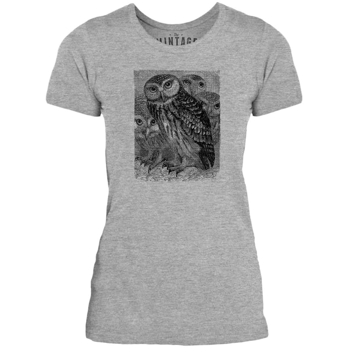 Mintage Barn Owls Womens Fine Jersey T-Shirt