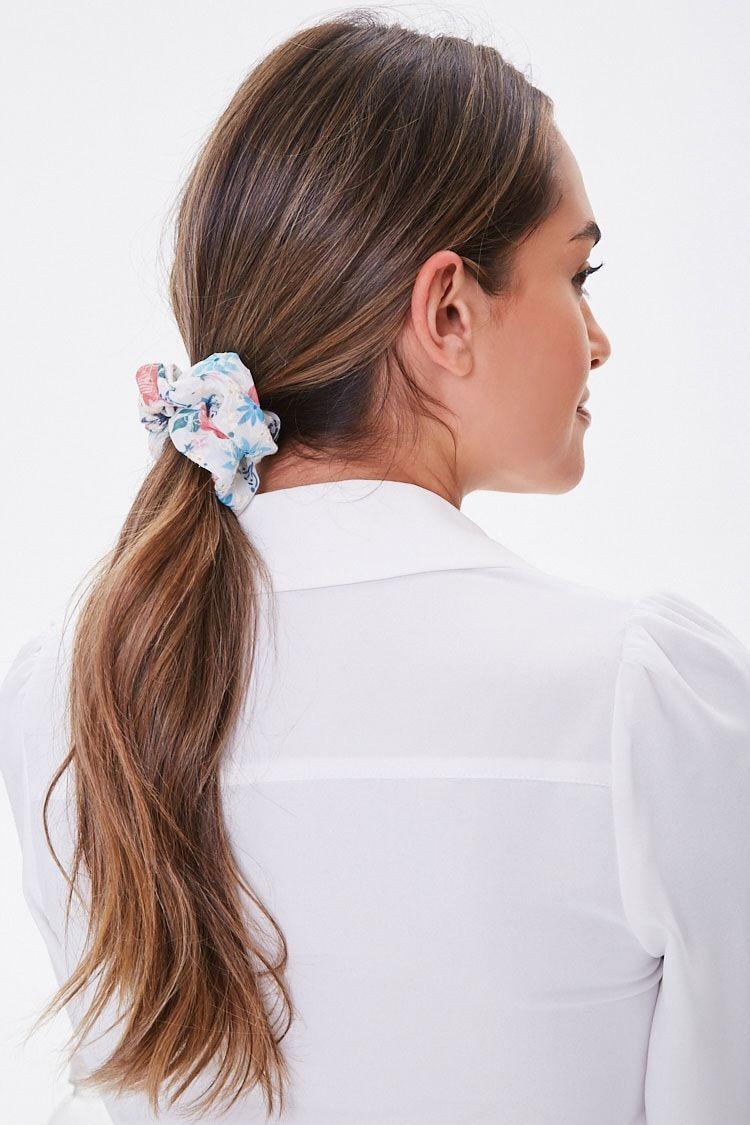 Floral Crochet Scrunchie