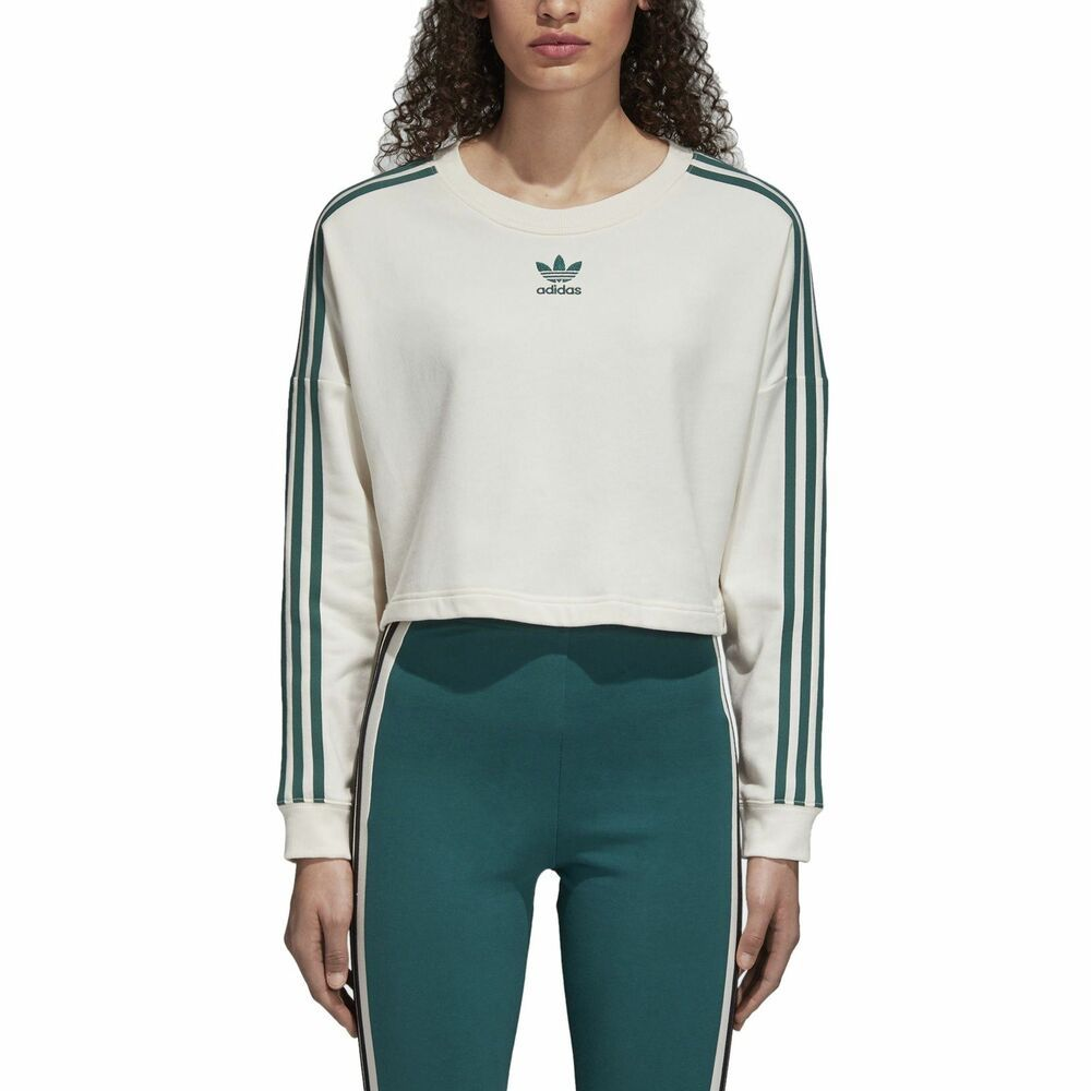 Predownload: Adidas Women S Adibreak Cropped Sweatshirt White Green Fashion Clothing Shoes Accessories Womenscl Women Hoodies Sweatshirts Sweatshirts Crop Sweatshirt [ 1000 x 1000 Pixel ]