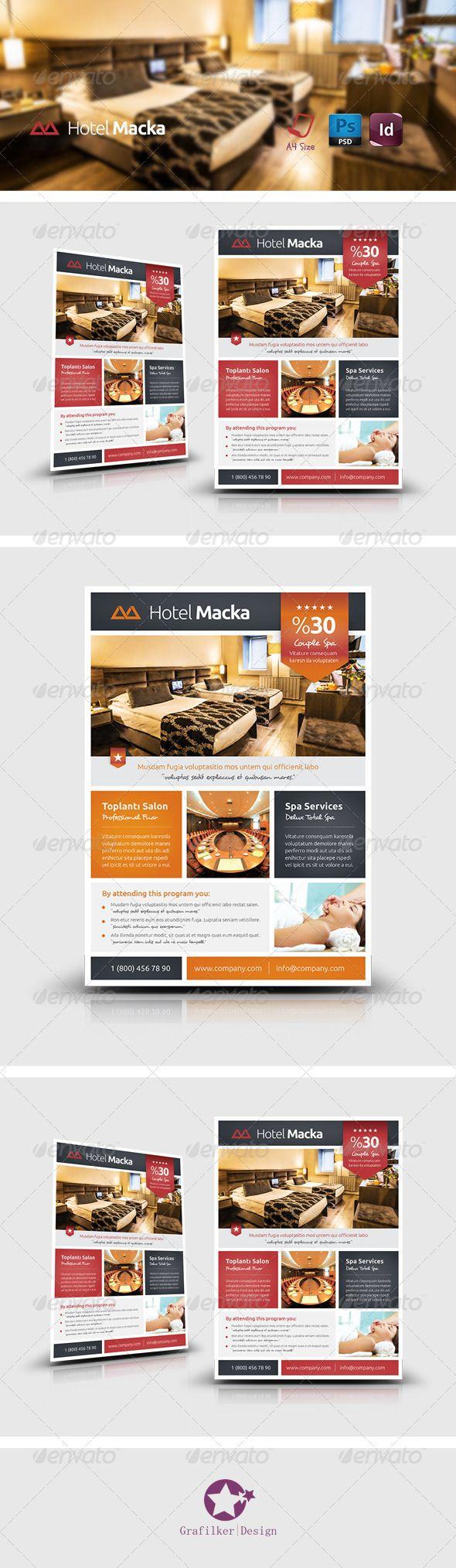 Hotel Flyer Templates — Photoshop PSD #villa #restaurant • Available ...