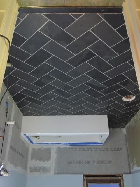 Slate Tile Grouted With Laticrete Epoxy Grout 1part