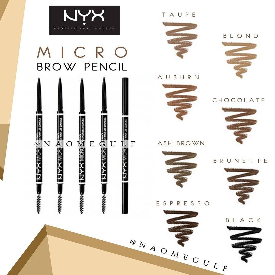 قلم رسم الحواجب مايكرو برو من نيكس يستخدم في تعبئة الحواجب وتحديدها وترتيبها بشكل جميل ودقيق وايضا يستخدم لرسم شعي Makeup Brow Pencils Make Up