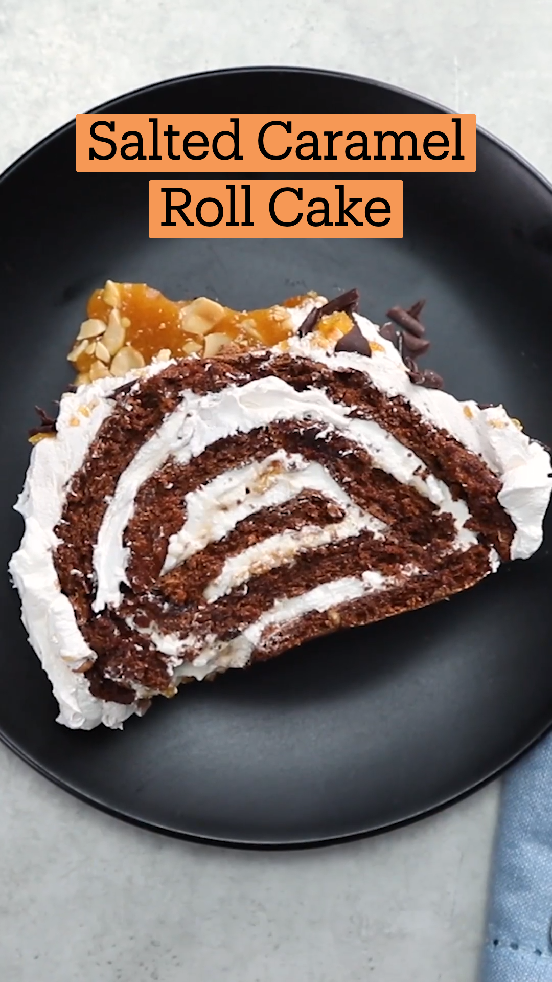 Photo of Salted Caramel Chocolate Roll Cake