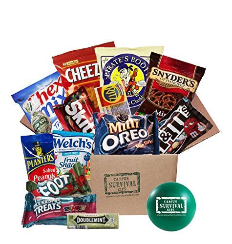 News Classic Campus Survival Kit (Small)   buy now     $19.95 This care package is full of sweet and salty snacks that will make any cram session easier. Your recipient will find this box ... http://showbizlikes.com/classic-campus-survival-kit-small/