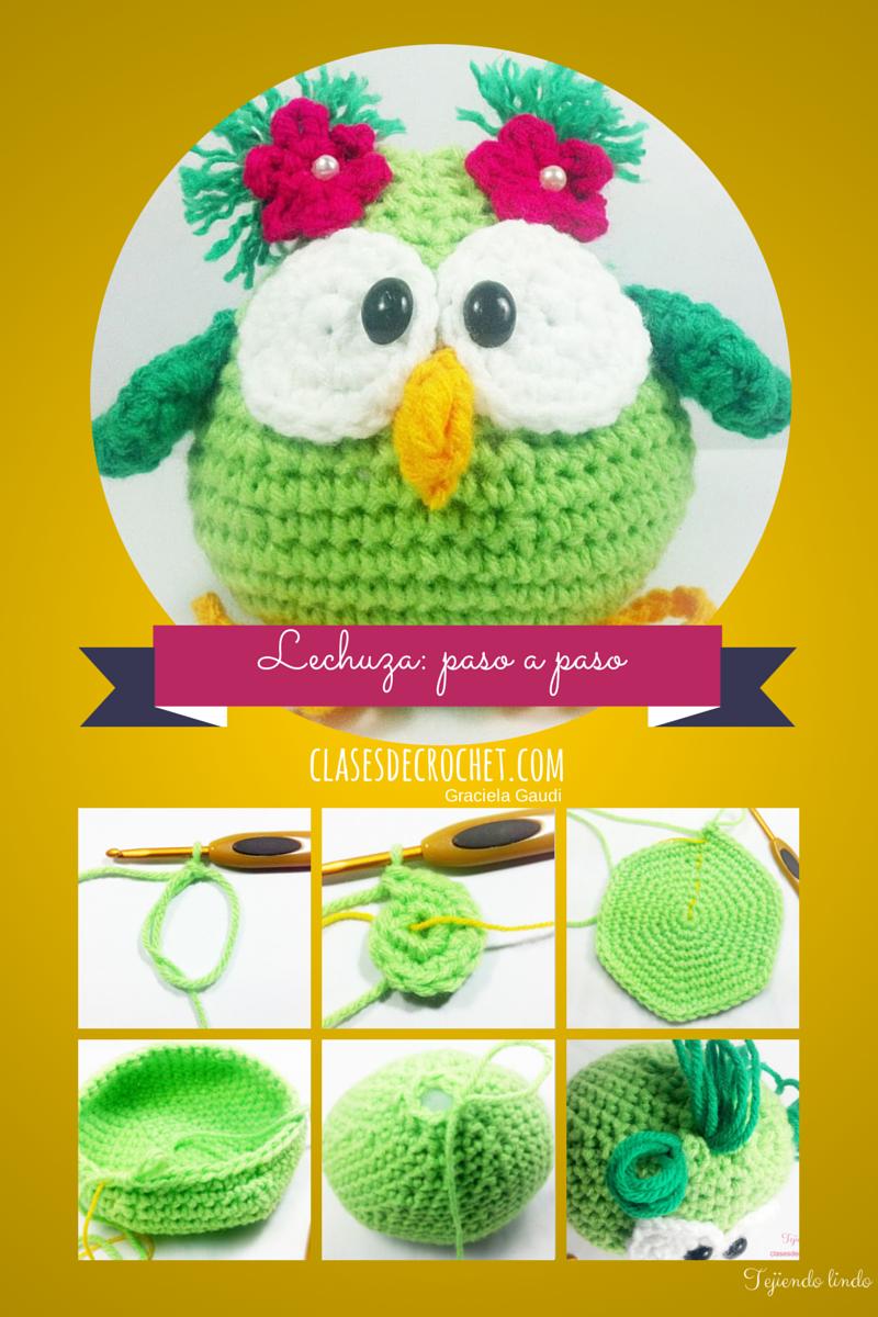 Lechuza Paso a paso #Diy #Crochet #Amigurumi   amiguris al crochet ...