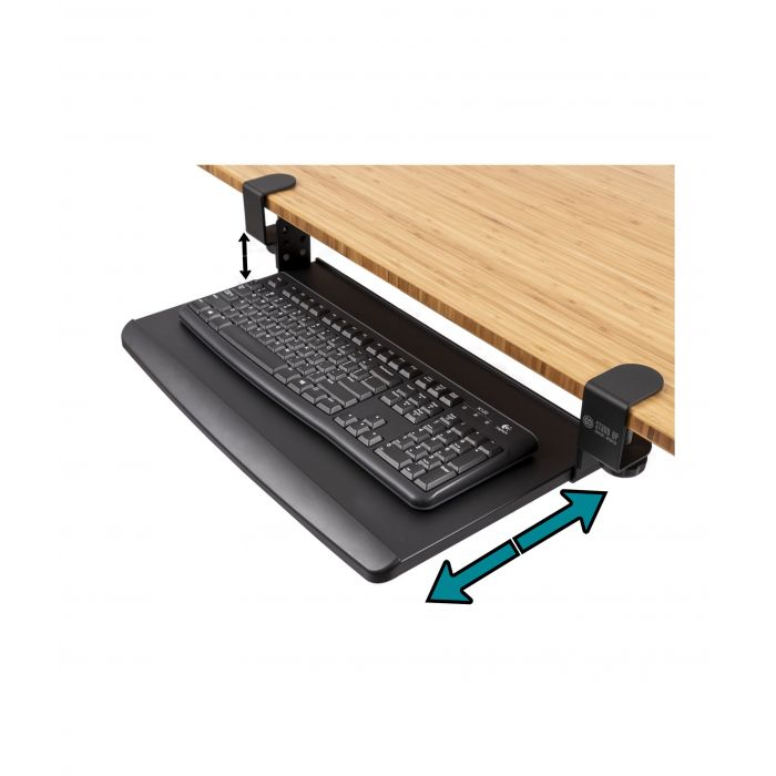 Clamp On Pull Out Keyboard Tray In 2020 Keyboard Tray Clamp