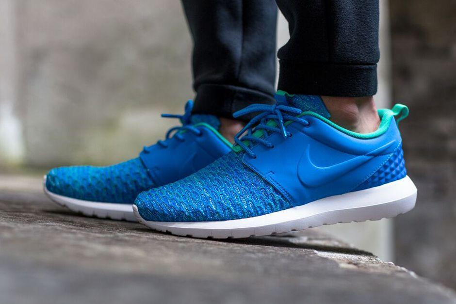Nike Roshe Nm Bleu Flyknit