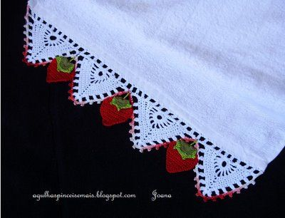 Barrado Com Morangos Croche Fresas Crochet Edging Crochet