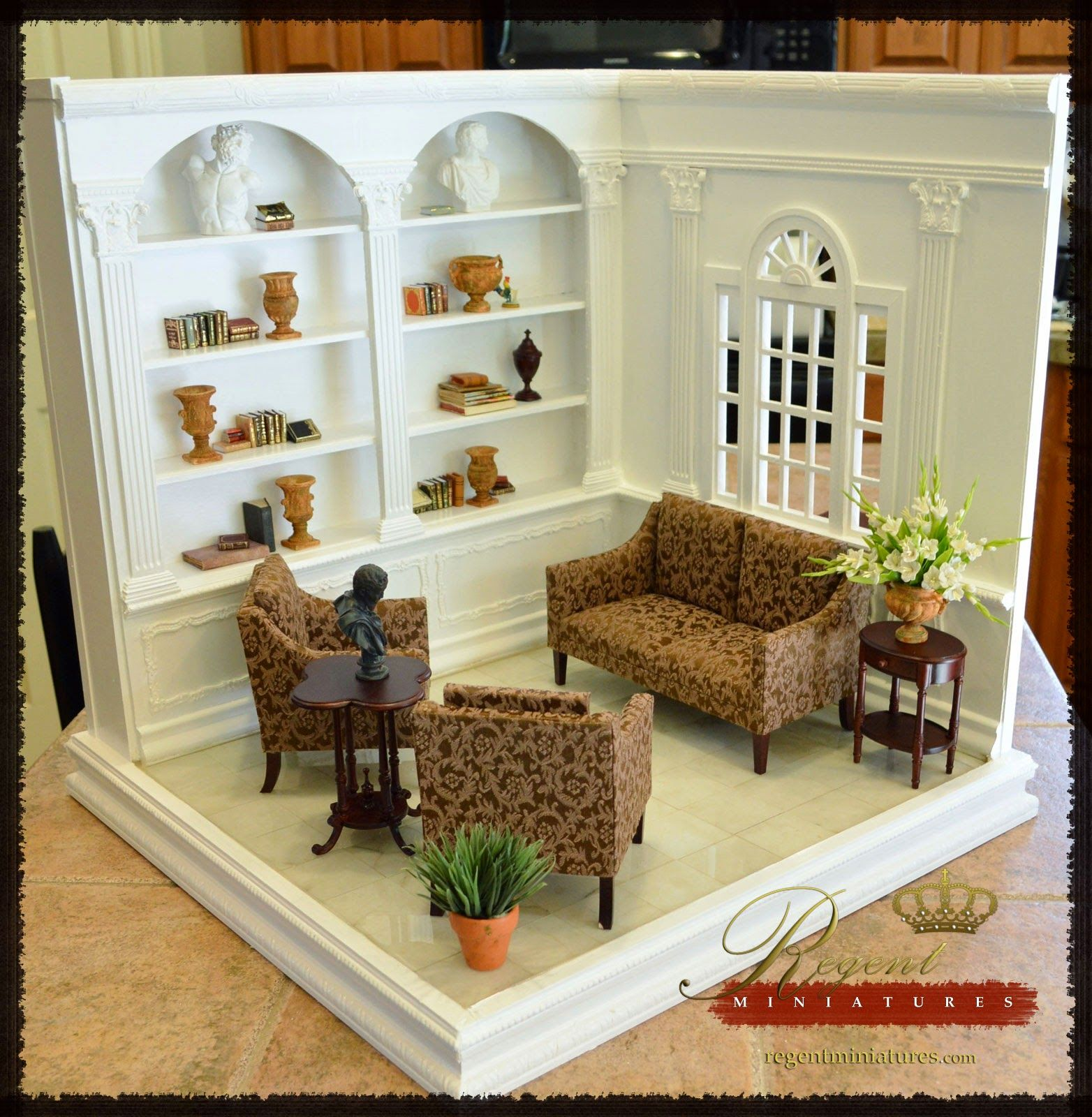 Mini Kitchen Room Box: Regent Miniatures: 1:6 Scale Room Box With Library Coming