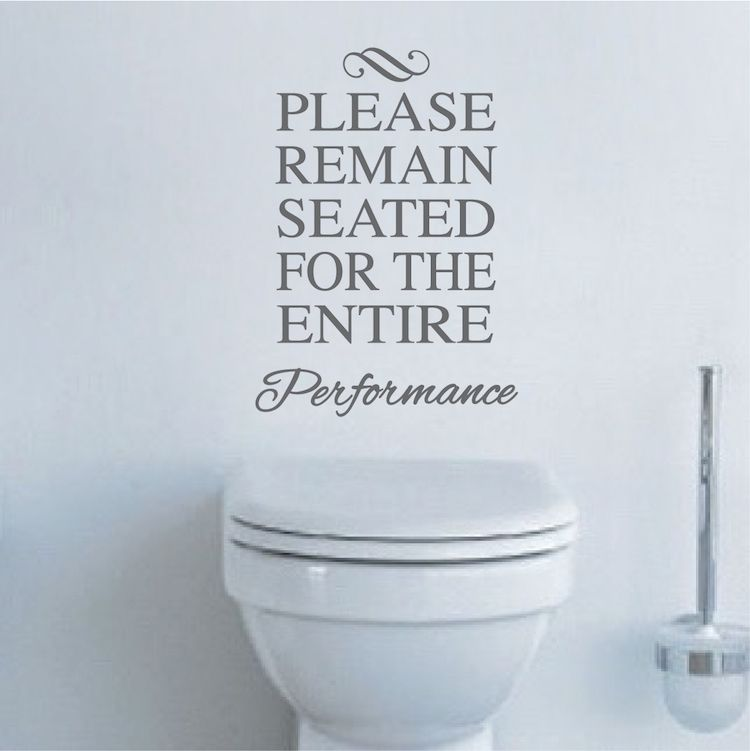 Funny Toilet Vinyl Decal Sticker With