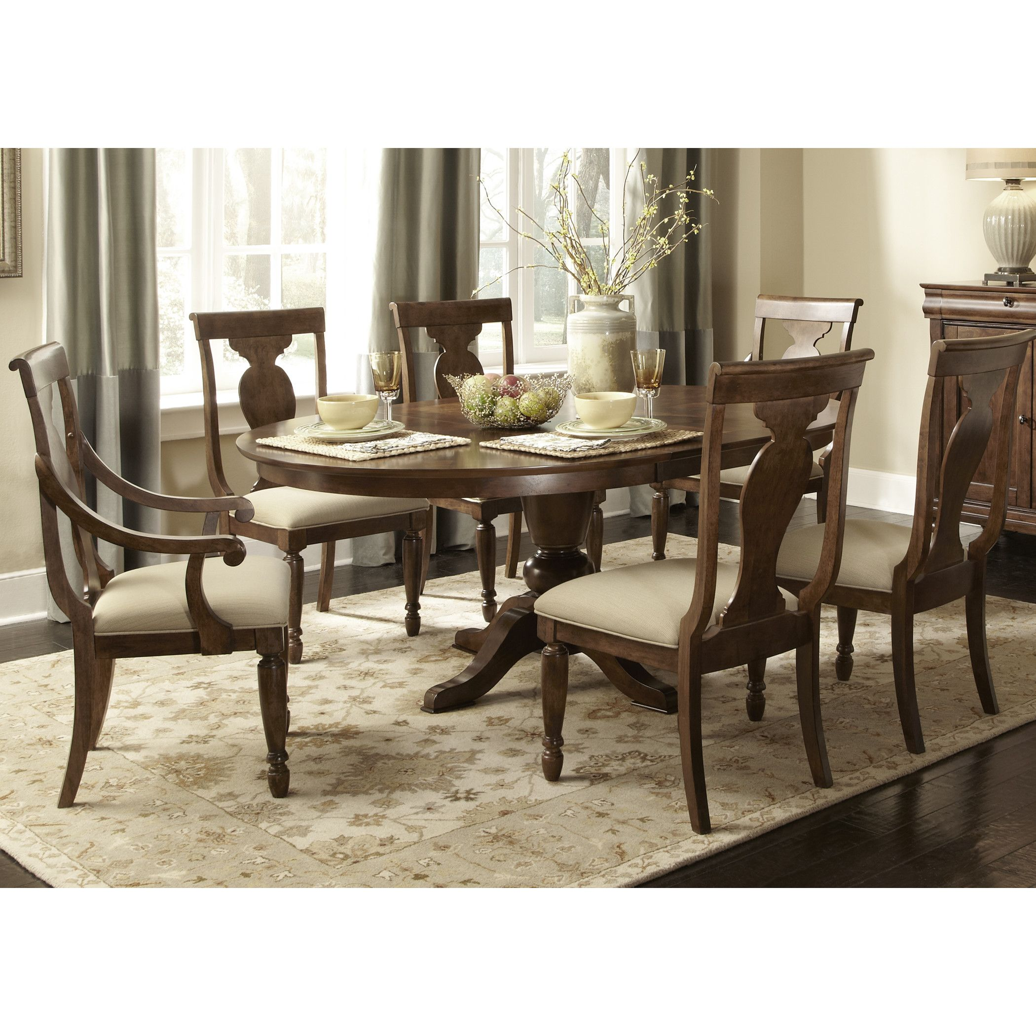 Room · Liberty Furniture Rustic Traditions 7 Piece Dining Set