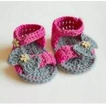 Gorros Zapatitos Tejidos A Mano Crochet Bebe Niños Adultos. 04 small2 Zapatos  Tejidos Para Niña ... a79e27a6a84