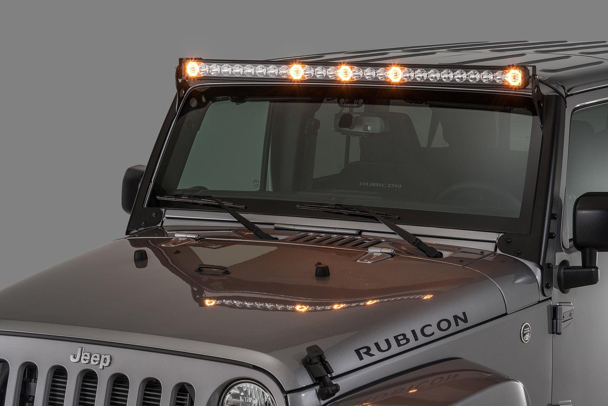 Quadratec J5 Led Light Bar With Amber Clearance Cab Lights Led Light Bars Jeep Led Lights Jeep Lights