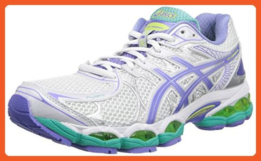 Asics Women S Gel Nimbus 16 D Running Shoe White Periwinkle Mint 5 D Us Athletic Shoes For Women Asics Running Shoes Womens Women Shoes Asics Running Shoes